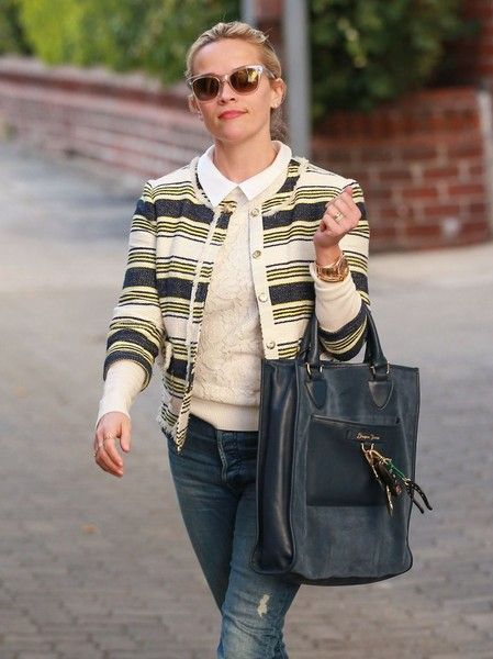 Reese Witherspoon leaves her office in Beverly Hills.