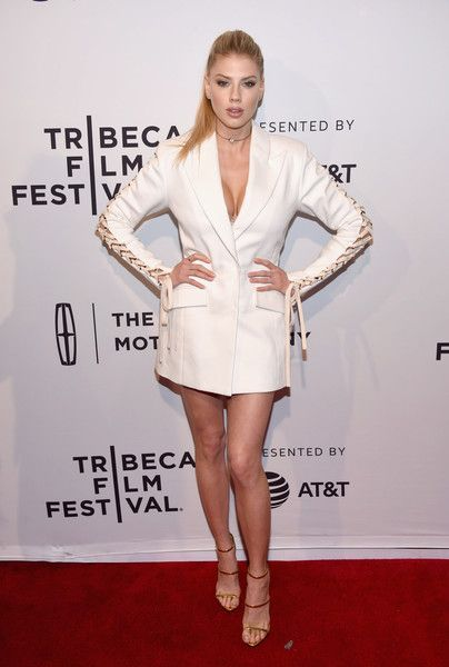 Charlotte McKinney attends the 'Literally, Right Before Aaron' Premiere during 2017 Tribeca Film Festival.