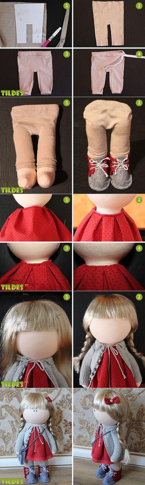 Как сшить комбинезон для куклы мастер класс 78