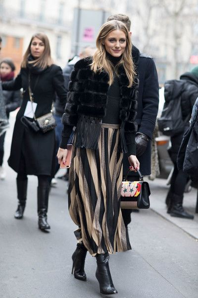 Olivia Palermo's Striped Pleats - Here's What Guests Wore to the Couture Shows in Paris - Photos