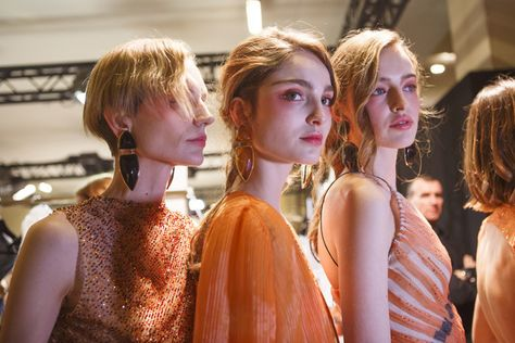 Backstage at Armani Prive Couture Spring 2017 - Beautiful Backstage Couture Photos From Paris - Photos