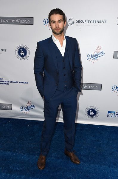 Chase Crawford attends the Los Angeles Dodgers Foundation Blue Diamond Gala at Dodger Stadium.