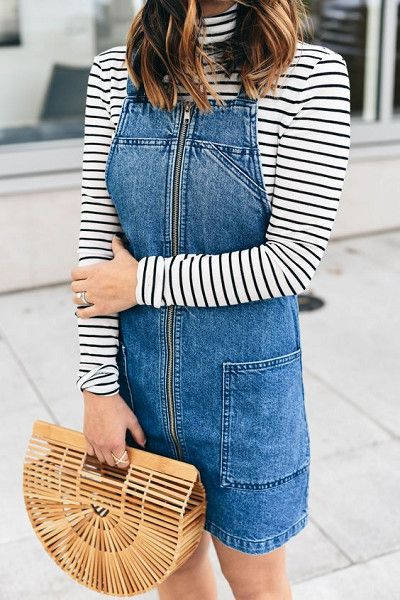 Get Bold With Your Purses - How To Wear the Pinafore Trend Without Looking Like A Kid - Photos