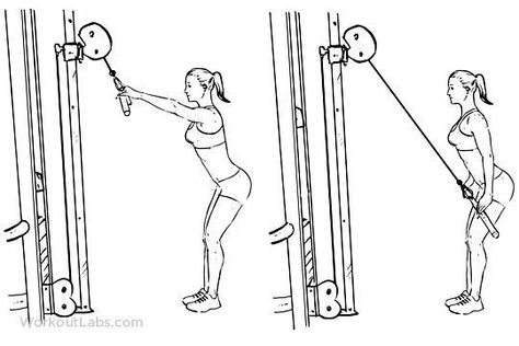 Straight Arm Cable Pulldown - Get Strong With These Upper Body Exercises - Photos