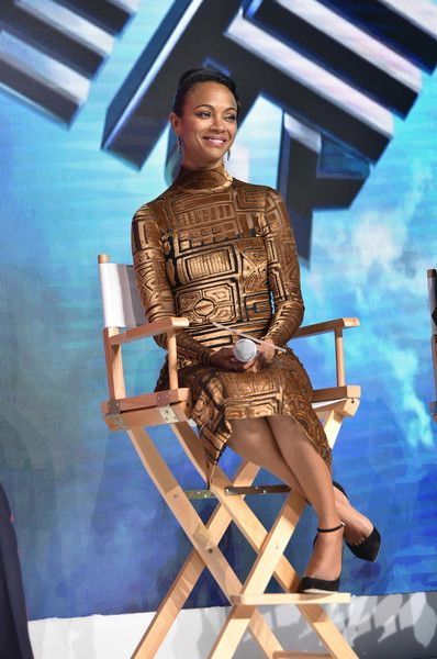 Actress Zoe Saldana attends the press conference of the Paramount Pictures title 'Star Trek Beyond.'