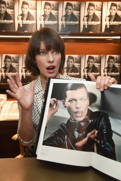 Actress Milla Jovovich attends photographer Peter Lindbergh's book signing for 'A Different Vision On Fashion Photography.'
