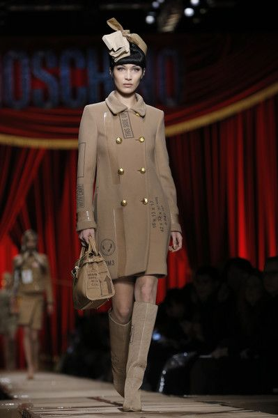 Moschino, Fall 2017 - Bella Hadid's Knockout Runway Looks - Photos