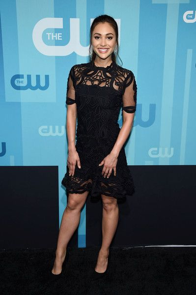 Lindsey Morgan attends the 2017 CW Upfront event in NYC.
