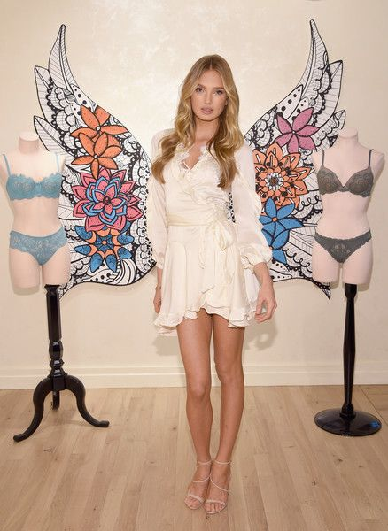 Victoria's Secret Angels Stella Maxwell and Romee Strijd gear up in Dream Angels for a hot spring season on February 28, 2017 in New York City.