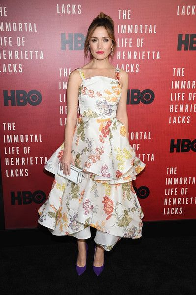 Actress Rose Byrne attends 'The Immortal Life of Henrietta Lacks' premiere at SVA Theater in NYC.