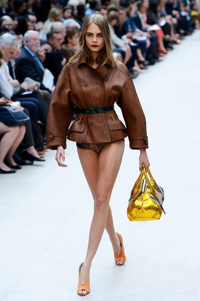 Burberry, Spring 2013 - Cara Delevingne on the Catwalk - Photos