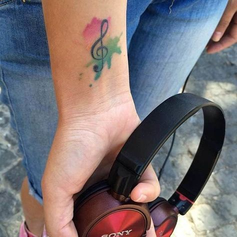Musically Inclined - These Watercolor Tattoos Remarkably Bring Paint To Life - Photos
