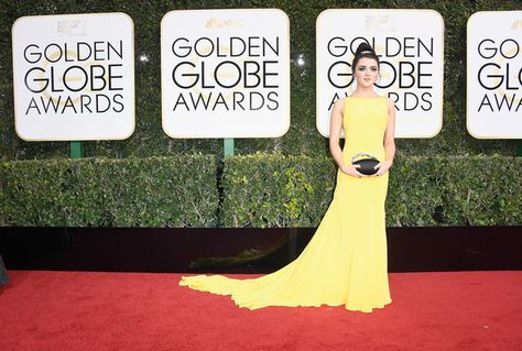 Maisie Williams - All the Stunning Looks from the 2017 Golden Globes - Photos