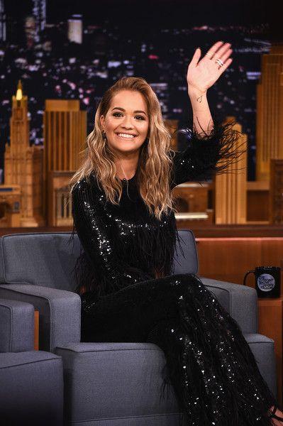 Rita Ora Visits 'The Tonight Show Starring Jimmy Fallon' at Rockefeller Center.