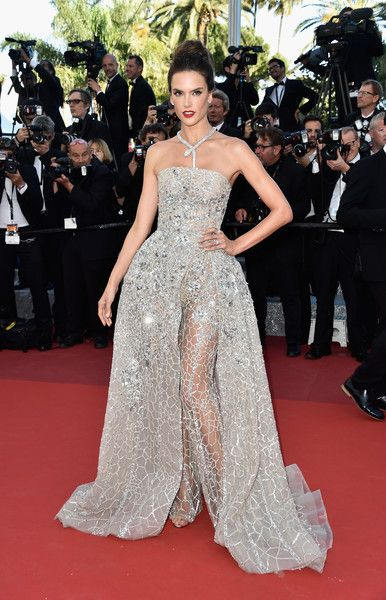 Alessandra Ambrosio in Zuhair Murad, 2016 - The Most Daring Dresses on the Cannes Red Carpet - Photos
