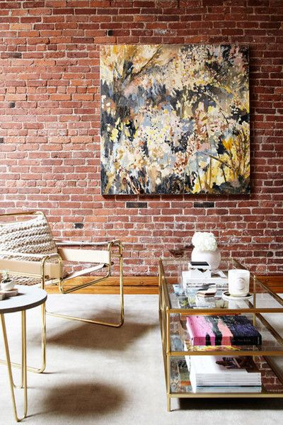 Statement Piece - A Gallerist's Industrial, Artful Brooklyn Home - Photos