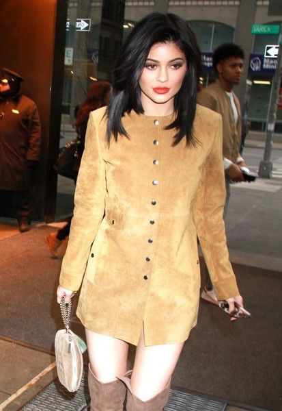 Reality star Kylie Jenner is spotted out and about in New York City, New York with a mystery man on February 9, 2016. Kylie is enjoying NYC after attending the 'Kendall + Kylie' Clothing Line Launch.