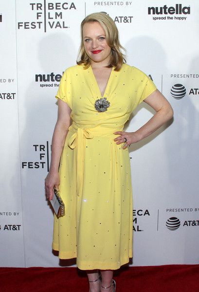 Elizabeth Moss attends the Tribeca Shorts: 'Tokyo Project' premiere at Regal Battery Park Cinemas.