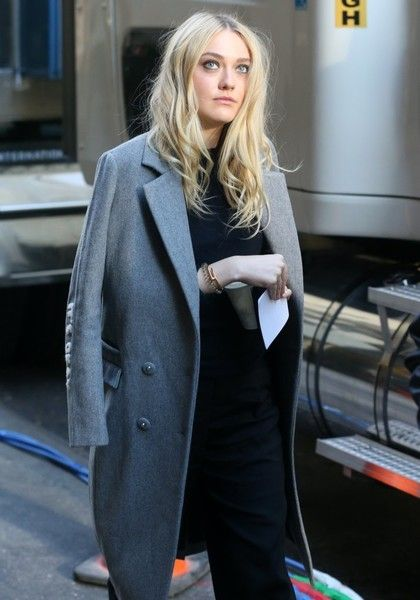 Dakota Fanning is spotted filming scenes for 'Ocean's Eight' in New York City.
