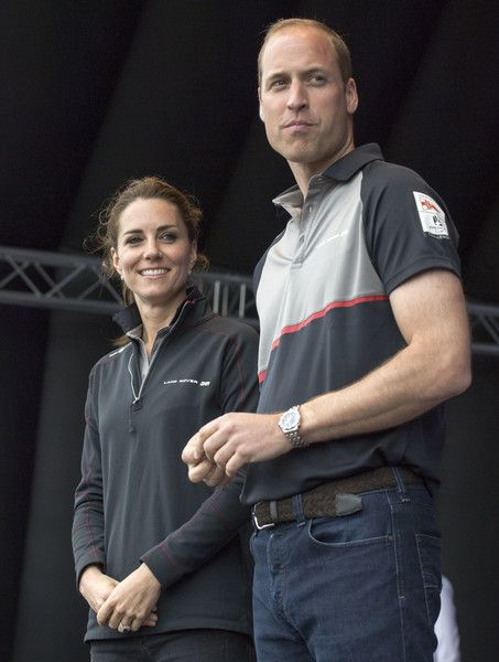 Catherine, Duchess of Cambridge and Prince William, Duke of Cambridge attend the America's Cup World Series.