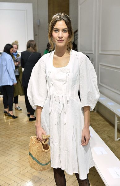 Alexa Chung attends the J.W.Anderson show during London Fashion Week.
