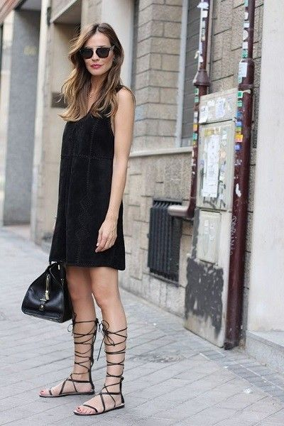 Add Flair With Gladiator Sandals - Exciting Ways to Glam Up a LBD - Photos