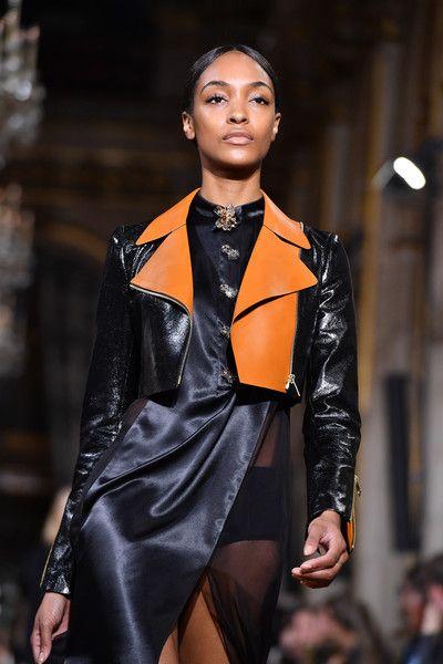 Jourdan Dunn walks the runway during the  Lanvin show as part of the Paris Fashion Week Womenswear Spring/Summer 2017  on September 28, 2016 in Paris, France.