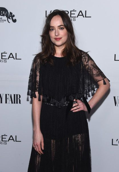 Host Dakota Johnson attends the Vanity Fair and L'Oreal Paris Toast to Young Hollywood.