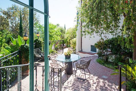 Tree-lined Terrace - See Sia's $4.99 Million Dollar Los Feliz Pad - Photos