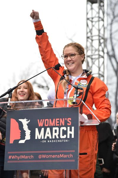 Amy Schumer speaks onstage during the rally at the Women's March on Washington.