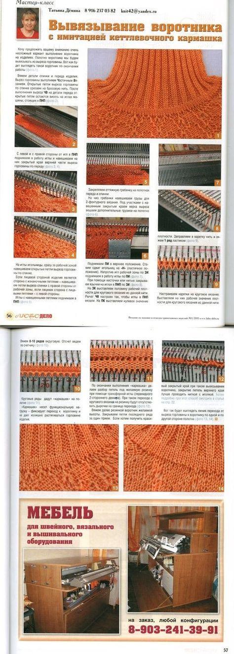 Техники машинного вязания