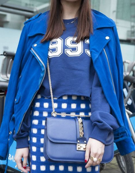 Rhapsody in Blue - Follow StyleCaster's color board for fashion-forward palettes found within the latest editorial spreads and snaps of off-duty models rocking monochrome looks.