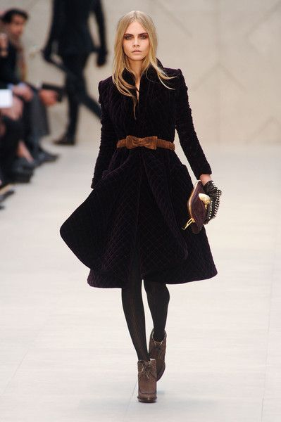 Burberry, Fall 2012 - Cara Delevingne on the Catwalk - Photos