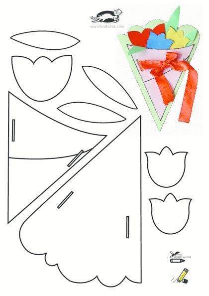 Шаблоны для открыток из бумаги распечатать 66