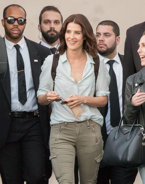 Cobie Smulders is seen at 'Jimmy Kimmel Live.'