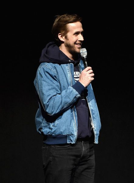 Actor Ryan Gosling speaks onstage at the CinemaCon 2017 Gala Opening Night Event: Sony Pictures Highlights its 2017 Summer and Beyond Films at The Colosseum at Caesars Palace during CinemaCon, the official convention of the National Association of Theatre Owners, on March 27, 2017 in Las Vegas, Nevada.