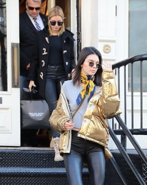 Models Kendall Jenner and Hailey Baldwin are spotted out shopping in New York City, New York on January 16, 2017. The pair picked up a couple items from the popular consignment shop, 'What Goes Around Comes Around'.