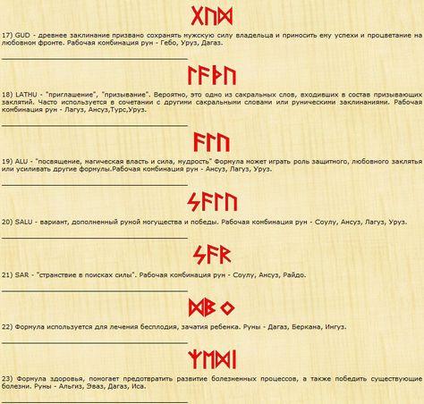 Рунические формулы - blackmysterynet