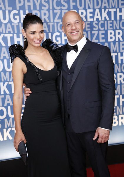 Actor Vin Diesel and model Paloma Jiménez attend the 2017 Breakthrough Prize at NASA Ames Research Center.