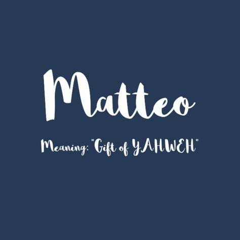 Matteo - European Boy Names That Are On the Rise  - Photos