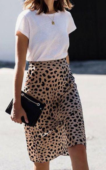 leopard silk skirt @themodhemian Fall 2018 Fashion Trend Inspo