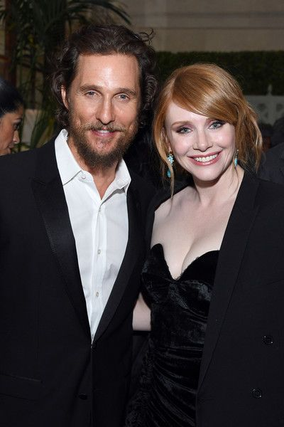 Actors Matthew McConaughey and Bryce Dallas Howard attend the World Premiere of 'Gold.'