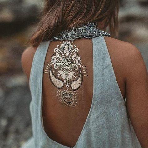Life of Bohéme - Festival Ready Flash Tattoos - Gold and Glamorous Ideas - Photos