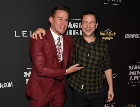Actors Channing Tatum and Joseph Gordon-Levitt attend the grand opening of 'Magic Mike Live Las Vegas.'