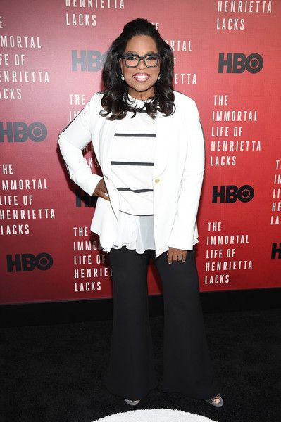 Oprah Winfrey attends 'The Immortal Life of Henrietta Lacks' premiere at SVA Theater in NYC.