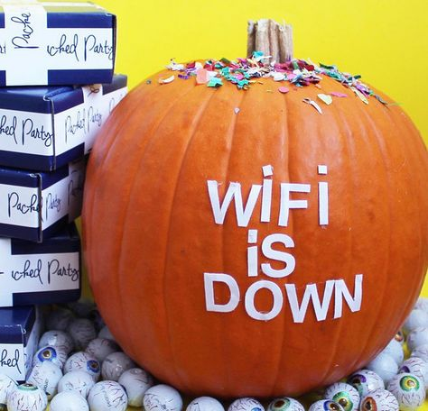 Low-Tech Pumpkin - 101 Fabulous Pumpkin Decorating Ideas - Photos
