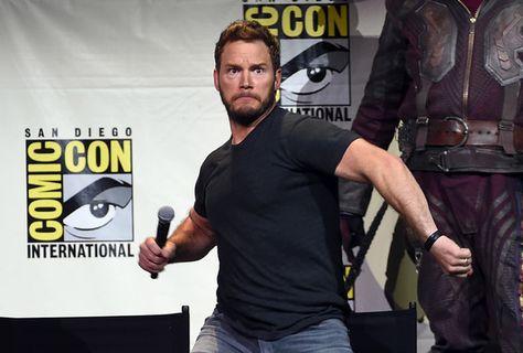 Actor Chris Pratt attends the Marvel Studios presentation during Comic-Con.