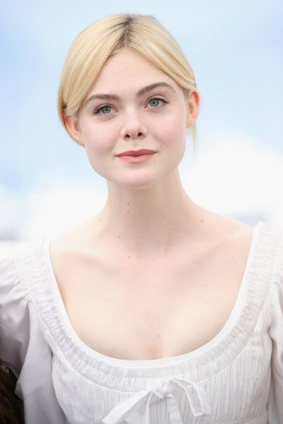 Actress Elle Fanning attends 'The Beguiled' photocall during the 70th annual Cannes Film Festival.