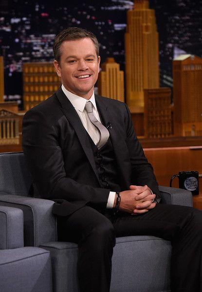 Matt Damon visits 'The Tonight Show Starring Jimmy Fallon.'
