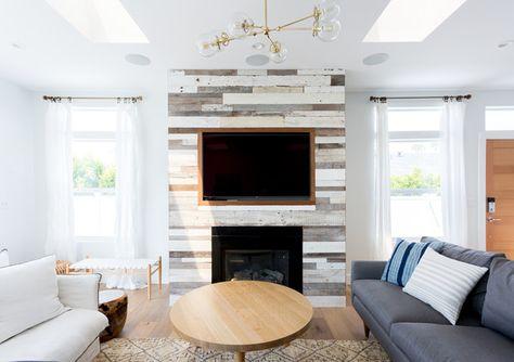 Warm Centerpiece A Delightfully Modern Malibu Beach House Photos